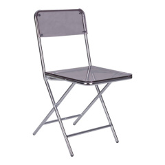 Steel Acrylic Folding dining Chair
