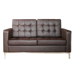 comfortable brown Florence Knoll Tweezits sofa