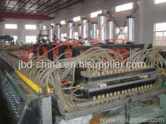 WPC hollow grid door board making machine