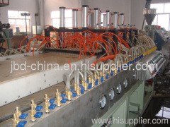 Wood plastic composite door board extrusion line