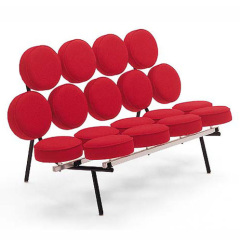 red sunflower leather marshmallow sofa