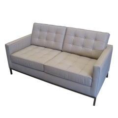 white real Leather Knoll Sofa