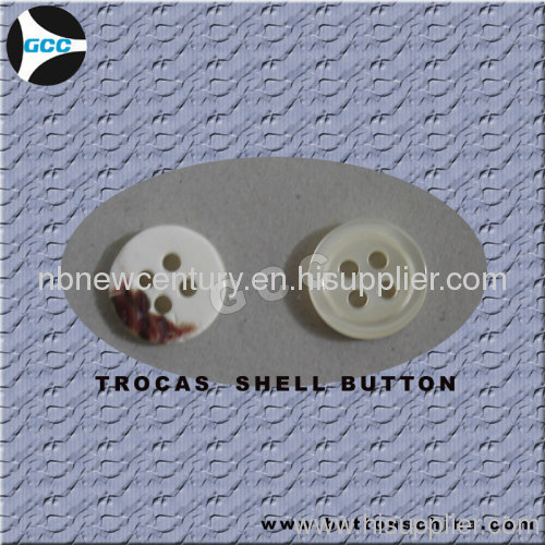 2 holes white troca shell button