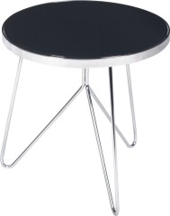black Glass Top Round Coffee Table