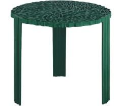 green unusual round living room table