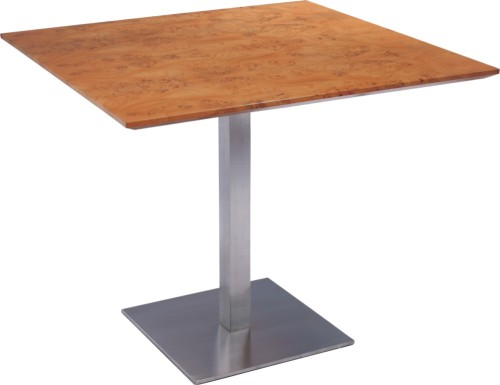 Charmant Clear Wood Square Indoor Bar Table