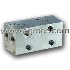 Aluminum Rexroth Parallel Circuit Normal / High Flow Hydraulic Bar Manifolds of NG10 Valves
