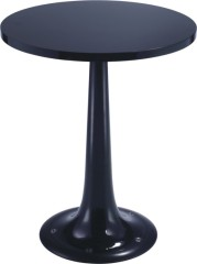 Black Wood Top Round Bar Table