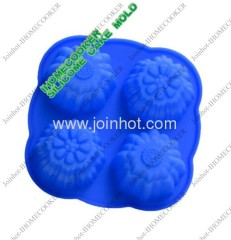 4 trays flower shape silicone cake pan mold