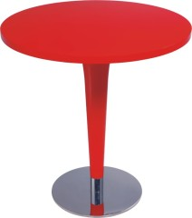 Red Wood Top Round Bar Tables Indoor Table