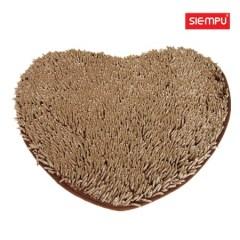 Heart Microfiber Chenille Long Coral Rug/Carpet/Mat (XQH-D017)