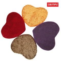 Heart Microfiber Chenille Coral Rug/Carpet/Mat(XQH-D018)