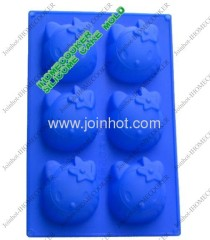 6 tray hello kitty silicone cake mould