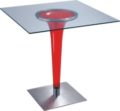 Modern design Glass Top Squard Bar Table furniture dining coffee tables