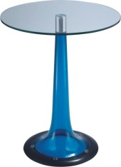 Luxury Glass Top Round Bar Table Pub Dining Furniture Tables Height