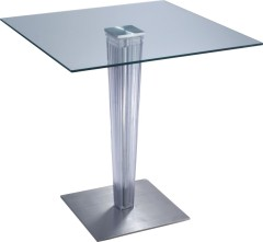 Gorgeous Glass Top Square Bar Table furniture Dining Breakfast Home Tables