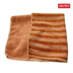 Microfiber PE Striped Cleaning Cloth (XQK-C004)