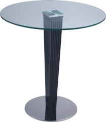 Luxury Glass Top Round Bar Table Pub Dining Kitchen Tables Height Bar Furniture