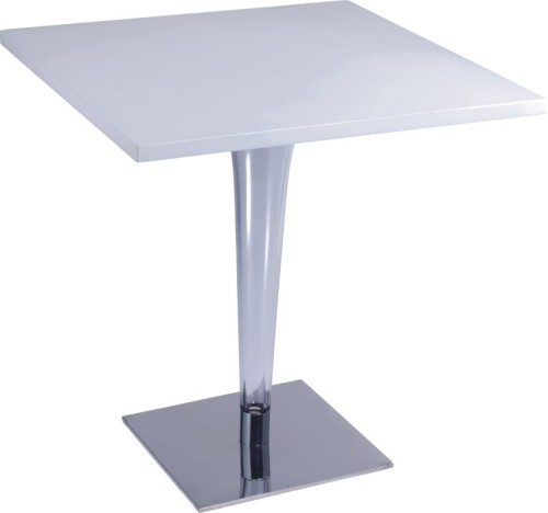 Luxury White Wooden Top Square Bar Table Kitchen Furniture