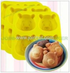 4 trays holes cake molds