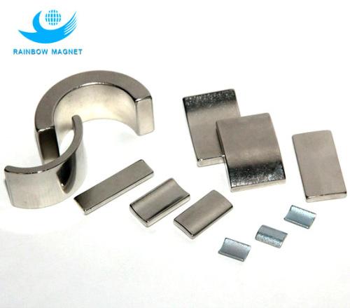 rare earth magnetic materials. NdFeB segment magnet.