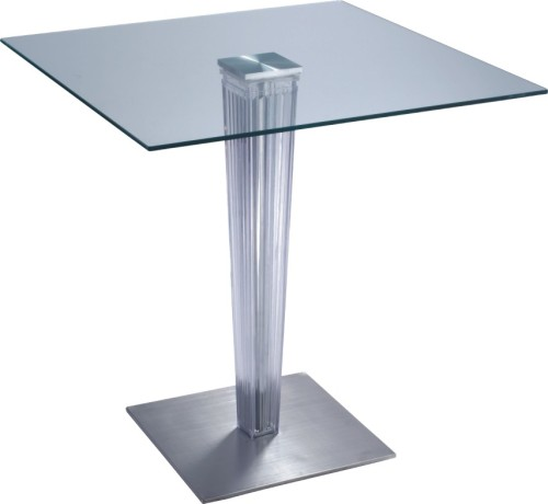 Square Glass Top Dining Table Transparent Glass Top Square Bar Table Dining Breakfast Pub Tables
