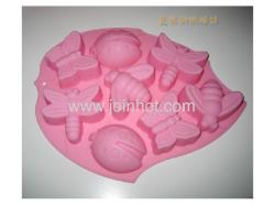 8 cavities silicone cake molds