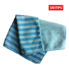 Microfiber Striped Dish Cleaning Cloth (XQK-C033)