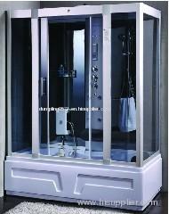 shower cabin with steam