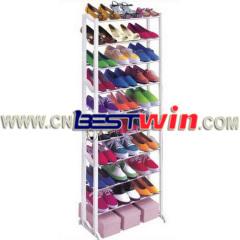 10 계층 스택형 신발 랙