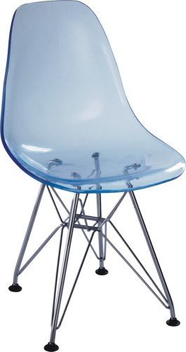 Fashion Sky Blue Clear Kidu0027s Dining Chair