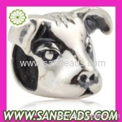 Dog Head 925 Sterling Silver Jewelry Beads