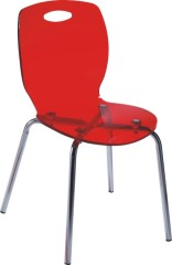 Transparent Red Plastic Baby Chair Side Outdoor Furniture Chairs Dining Chair