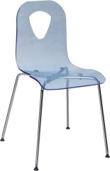 Luxury Blue Acrylic Dining Chair Living Room Kitchen Outdoor Chairs discount furniture