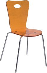 Discount Furniture Orange Acrylic Dining Chair Desk Reception Chairs Online