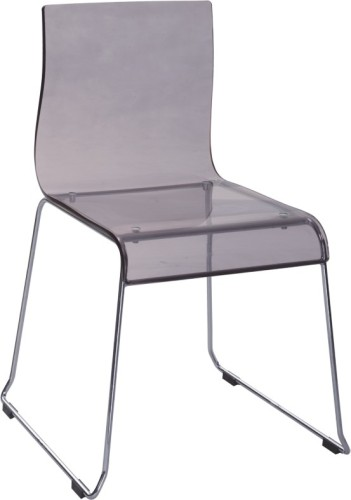 Hot Sale Grey Acrylic Dining Chair Side Crystal Outdoor Chairs Computer Chair