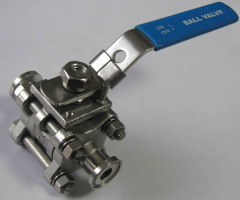 Three pieceStainless steel ball valve