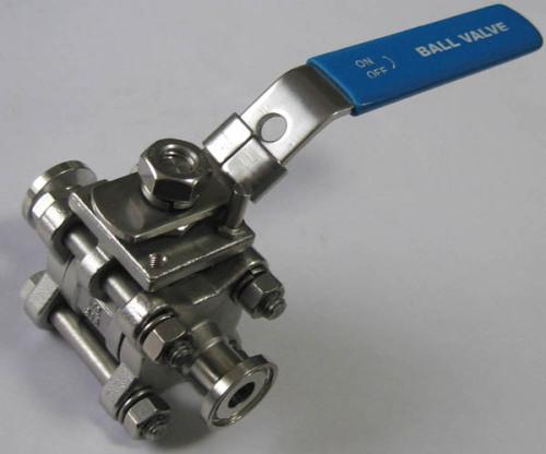 Three pieceStainless steel ball valve