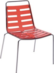 Fashion Hollow Red Crystal Acrylic Dining Chair Outdoor Kitchen Furniture Side Chairs Store