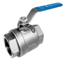 Stainless steel Two Piece Ball Valve with handle