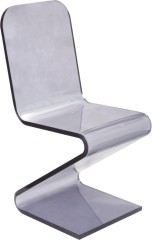 Whole Gray Crystal Plastic Dining Chair Wave sharp Side chairs office desk living room furniture