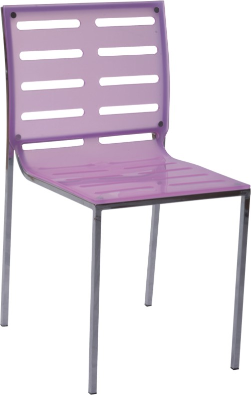 Purple Crystal Acrylic Side Dining Chair Garden Outdoor