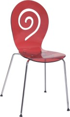 Elegant Red Crystal Dining Chair desk office garden outdoor side chairs Wholesale