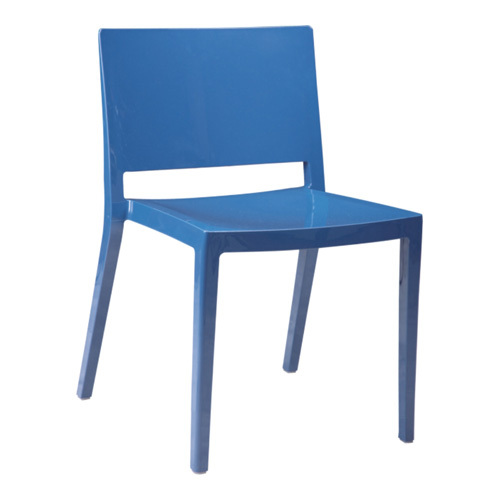 Modern navy pp lizz dining side chair outdoor garden desk for Outdoor dining chairs modern