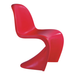 Exquisite Red Panton Glossy side Chair Wave Sharp Office Desk furniture chairs