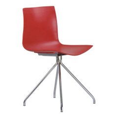 Fashion Red PP Leeisure Chair office side chairs desk living room furniture