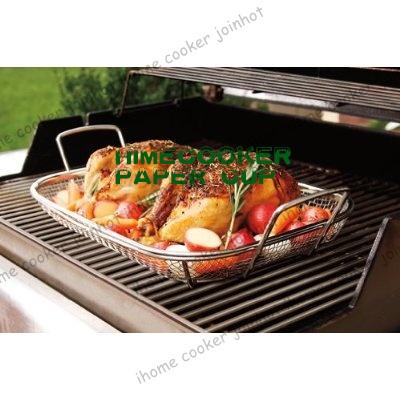 BBQ Grilling Basket Mesh Roasting Pan