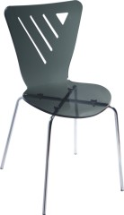 Modern style Grey Acrylic indoor room side Chair office reception desk living room furniture wholesale