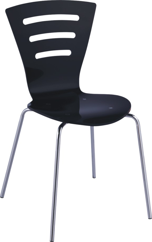 best quality black plastic indoor side chair dining room furniture