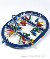 Colorful Clips Cloth Hanger